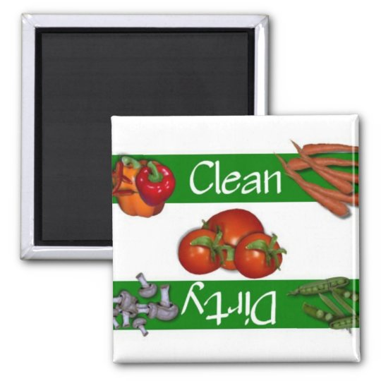 Clean or Dirty Veggies Dishwasher Magnet