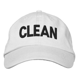 'CLEAN' Personalized Adjustable Hat Baseball Cap