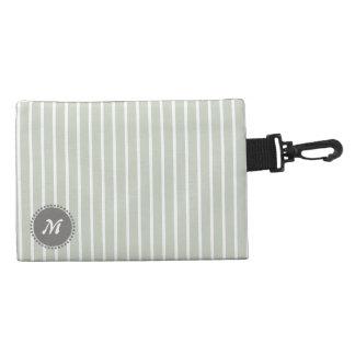 Clean Plain Stripes Light Green Accessory Bags