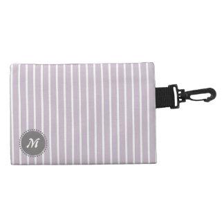 Clean Plain Stripes Light Violet Accessories Bags