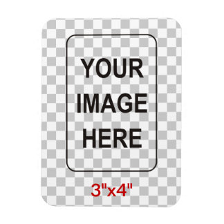 Clean Rectangular Photo Magnet