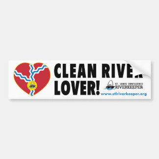 Clean River Lover Bumper Sticker