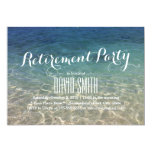 Clean Sand and Sea Water Beach Retirement Party 13 Cm X 18 Cm Invitation Card