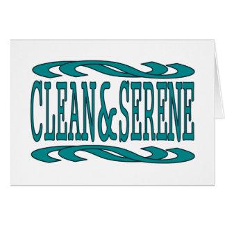 Clean & Serene Greeting Card