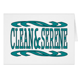 Clean & Serene Greeting Card