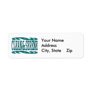 Clean & Serene Return Address Label
