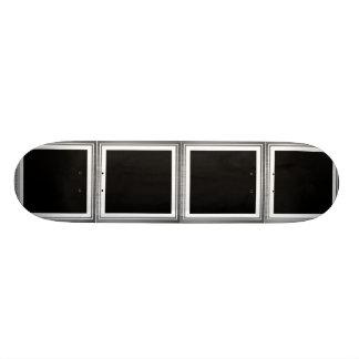 Clean Silver Metallic Edge Border Custom Skateboard