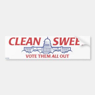 Clean Sweep Bumper Sticker