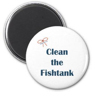 Clean the Fish Tank Fridge Magnets