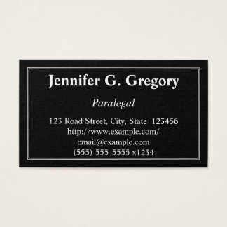 Clean & Traditional Paralegal Business Card