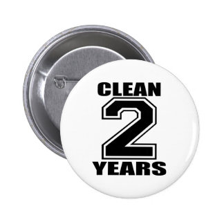 clean two years black 6 cm round badge
