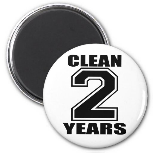 clean two years black refrigerator magnets