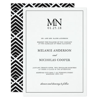 Clean typography wedding invitation