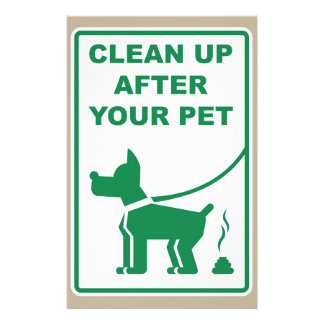 Clean Up After Your Pet Sign Customized Stationery