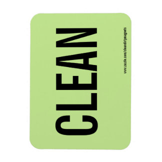 Clean  w/website address rectangular photo magnet