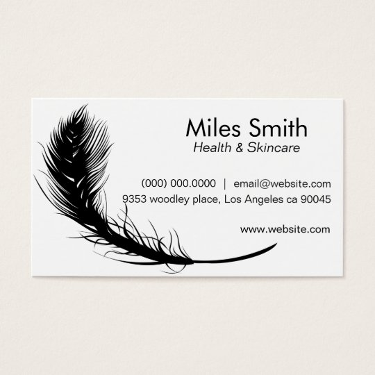 Clean White Background Black Feather Simple Design Business