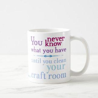 Clean your craft room basic white mug