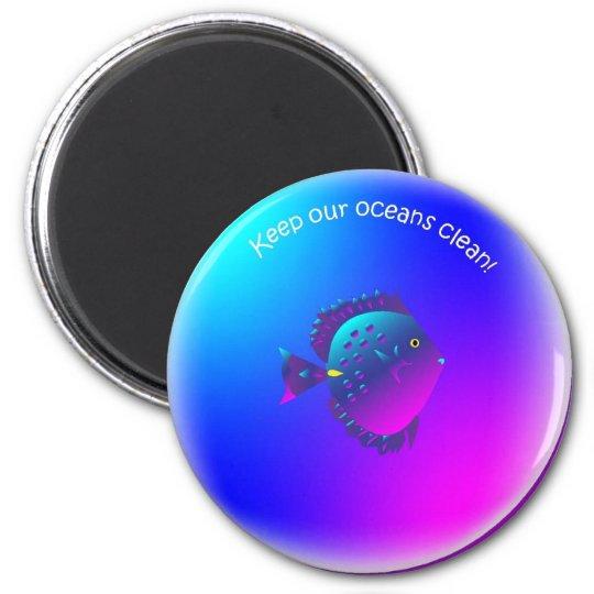 cleanbubble-purpletang fish magnet