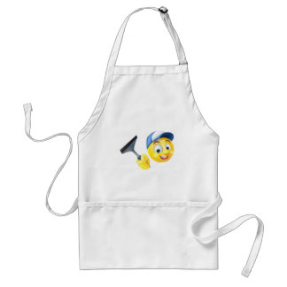 Cleaner Emoji Emoticon with Squeegee Standard Apron