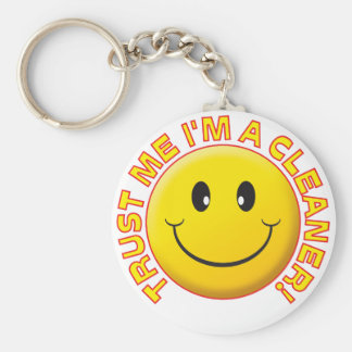 Cleaner Trust Me Basic Round Button Key Ring