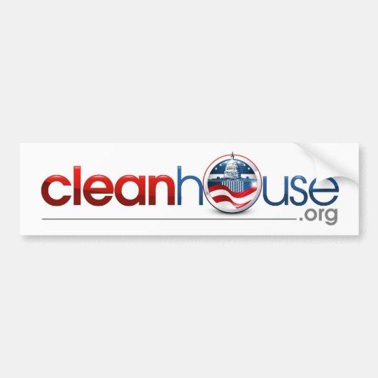 cleanhouse.org bumper sticker