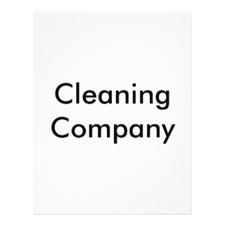 Cleaning Company 21.5 Cm X 28 Cm Flyer