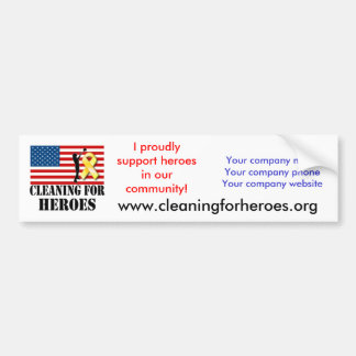 Cleaning for Heroes Bumper Sticker for Providers