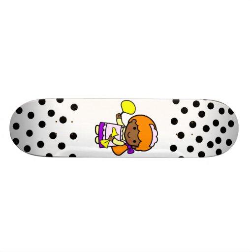 Cleaning Girl Custom Skateboard