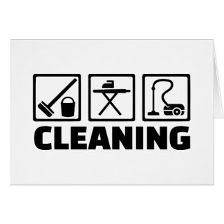 Cleaning housekeeping cards