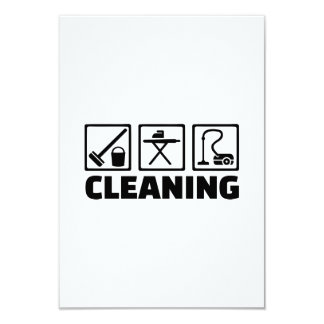 Cleaning housekeeping personalized invites