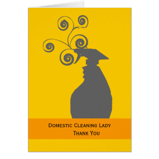 Cleaning Lady and Housekeeping Greeting Card
