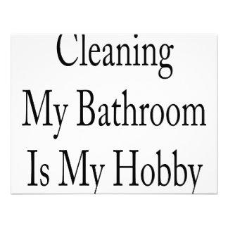 Cleaning My Bathroom Is My Hobby Custom Invitation