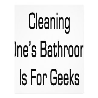 Cleaning One's Bathroom Is for Geeks Flyer