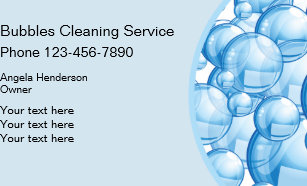 Cleaning business cards zazzle uk cleaning service bubbles design business card colourmoves