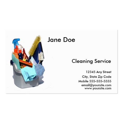 Create Your Own Maid Business Cards - Page3