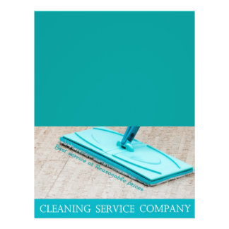 Cleaning service custom flyer