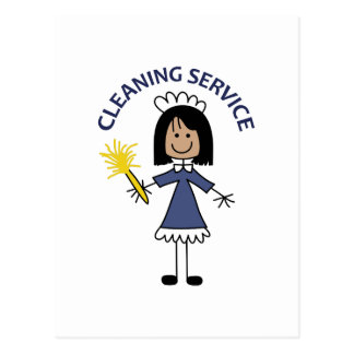 CLEANING SERVICE POSTCARD