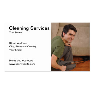 Cleaning Services Business Card Business Card Template