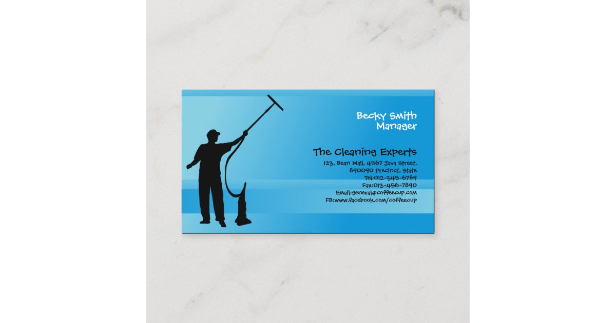 Cleaning Services Business Card Window Cleaner | Zazzle.co.uk