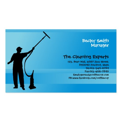 Create Your Own Cleaner Business Cards - Page4