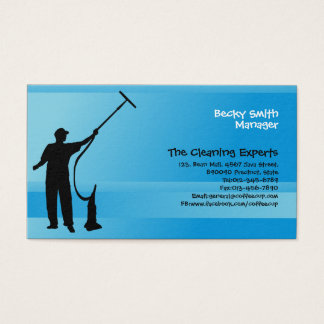 Cleaning Services Business Card Window Cleaner