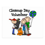 Cleanup Day Volunteer T-shirts and Gifts Post Cards
