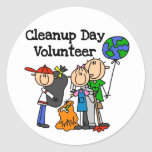 Cleanup Day Volunteer T-shirts and Gifts Stickers
