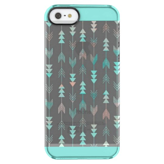 Clear Aqua Case w./ arrow pattern