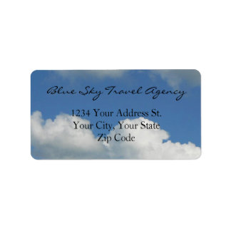 Clear Blue Sky Address Label