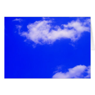 Clear Blue Sky and White Clouds Greeting Card