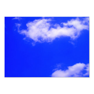 Clear Blue Sky and White Clouds Invitation