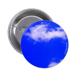 Clear Blue Sky and White Clouds Pinback Buttons