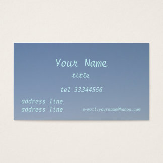 clear blue sky business card