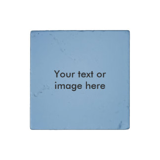 Clear blue sky photo template stone magnet